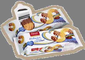 (Русский) Карамельное печенье покрытое молочным шоколадом