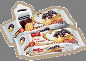 (Русский) Песочные кольца с шоколадом и сахаром